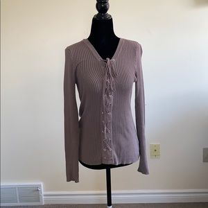 Long Sleeve tie up front top